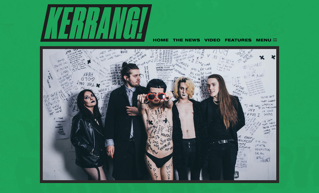 Queen Zee shoot featured in Kerrang Magazine